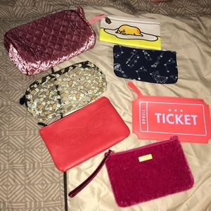7 Ipsy Makeup Bags Bundle